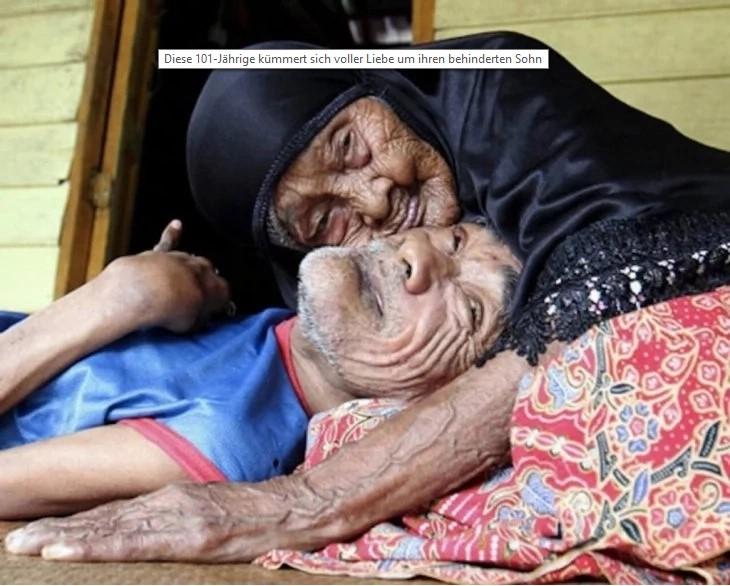 Diese 101-Jährige kümmert sich voller Liebe um ihren behinderten Sohn