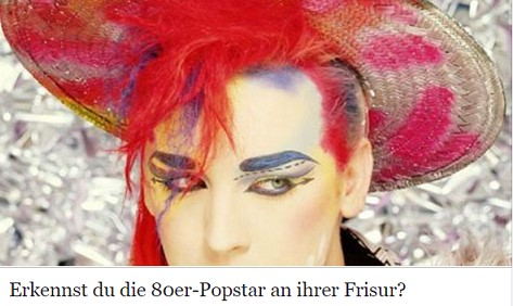 Erkennst du die 80er Popstar an ihrer Frisur?