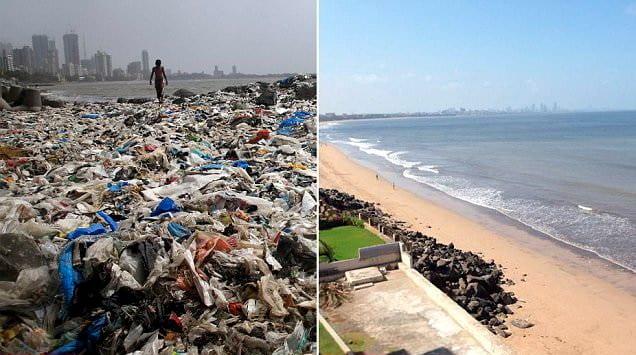 Nach weltweit größter Aufräum Aktion Wie aus dieser Müllkippe ein Traumstrand wurde