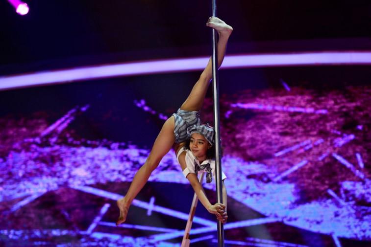Ein Mädchen aus der Ukraine bei der rumänischen Talent Show ,,Next Star''