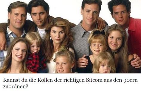 Kannst du die Rollen der richtigen Sitcom aus den 90ern zuordnen?
