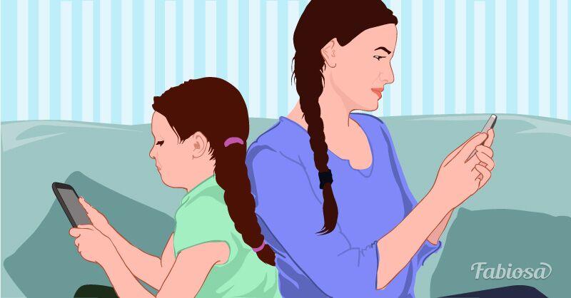 Die Wissenschaft bestätigt es: Eltern, die süchtig nach ihrem Handy sind, beeinflussen die Entwicklung Ihrer Kinder