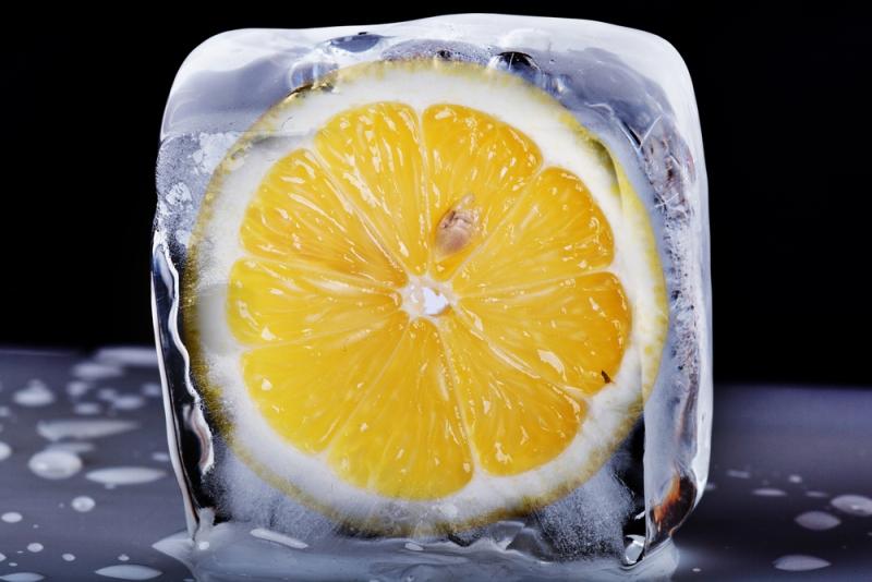 Gefrorene Zitrone mit krebshemmender Wirkung