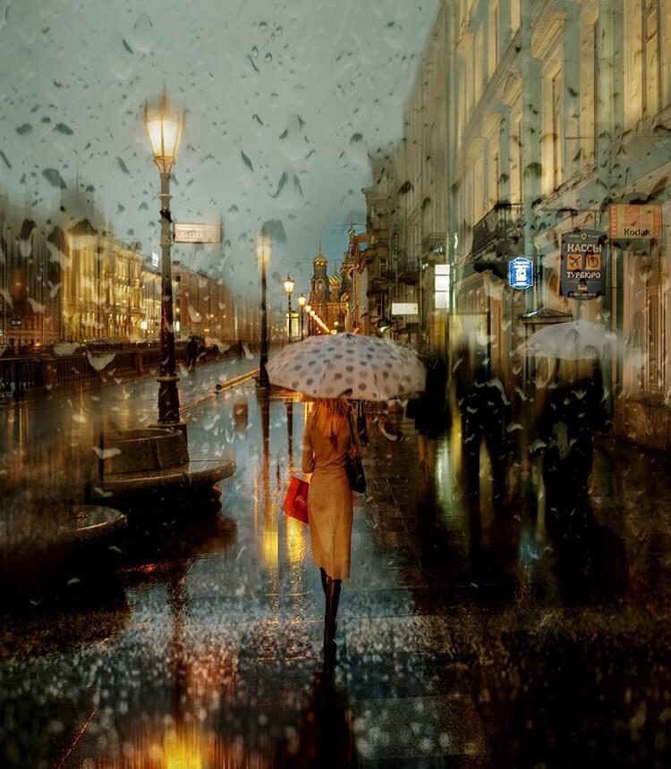 Regen, wie Eduard Gordeev ihn sieht