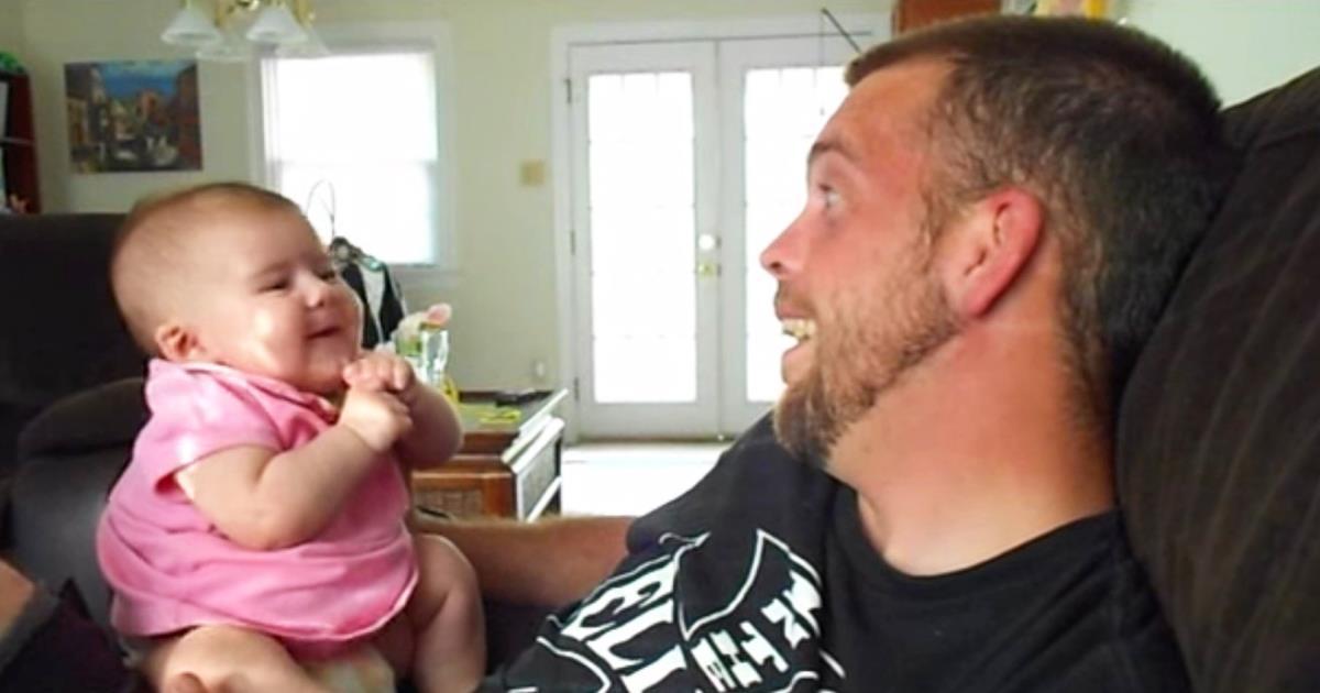 Dieses kleine Baby gesteht dem Vater in Liebe ... Sie wird Ihre Herzen erobern!