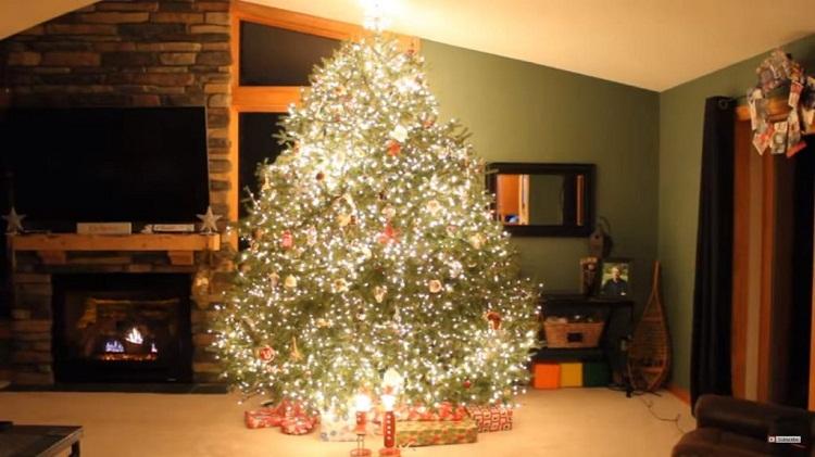 Wann Wurde Der Geschmückte Weihnachtsbaum Populär.Papa Hat Den Tannenbaum Geschmückt Und Wurde Zum Star Des Netzes