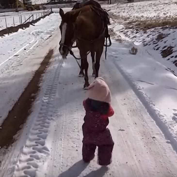 Emma und ihr Pferd Cinnamon sind die besten Freundinnen – hier der zuckersüße Videobeweis