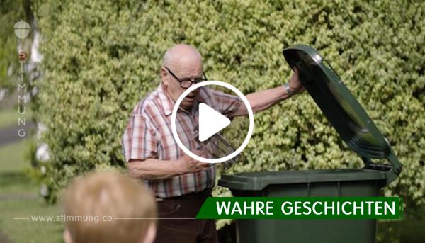 Alter Mann wirft neue Dinge jeden Tag in den Müll – bald verstehen die Nachbarn jedoch den Grund dafür