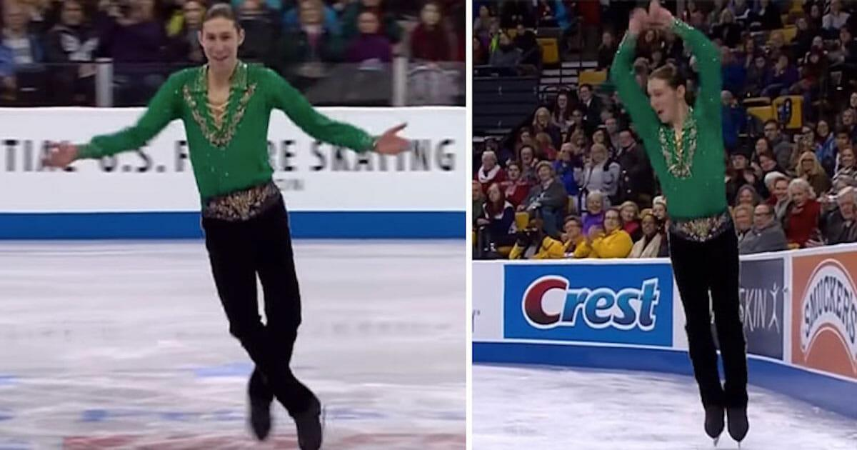 Eiskunstläufer tanzt zu Riverdance – als die Musik das Tempo wechselt, drehen die Zuschauer durch
