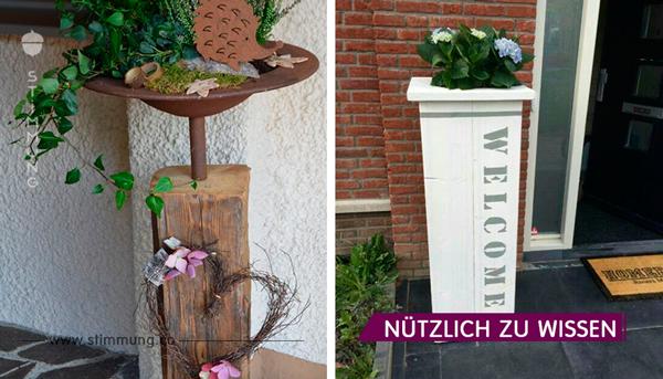 Säulen mit Pflanzkübeln sind echte Blickfänger für Ihr Haus…Tolle Inspirationsideen!