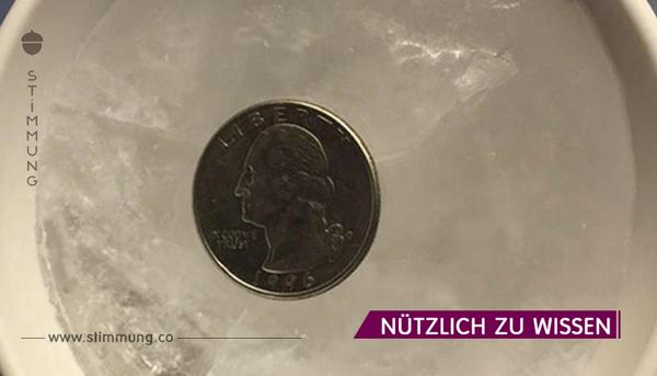 Aus diesem Grund solltest du immer eine Münze ins Gefrierfach legen, bevor du ausgehst!