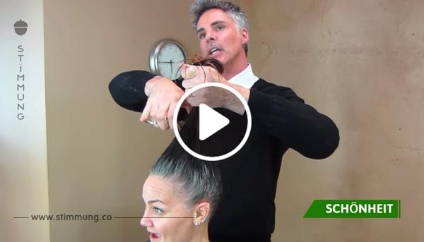 Sie ist es leid, ihre grauen Haare zu färben – dank einem drastischen Umstyling findet sie aber zu sich selbst