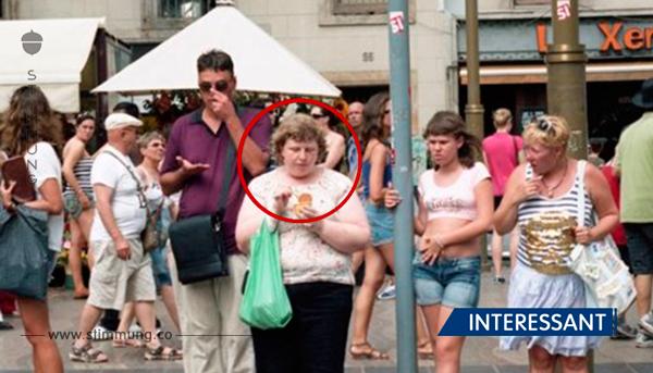 Frau fotografiert Reaktionen von Fremden auf Übergewichtige.