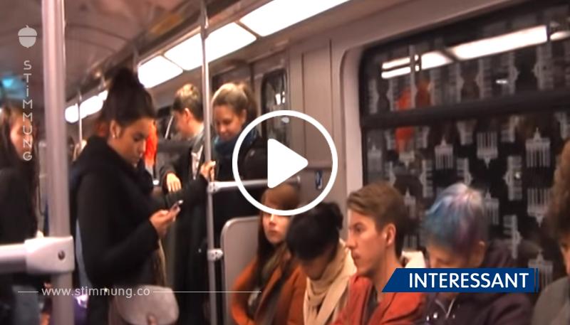 Video: Frau löst Lachkrampf in Berliner U-Bahn aus.