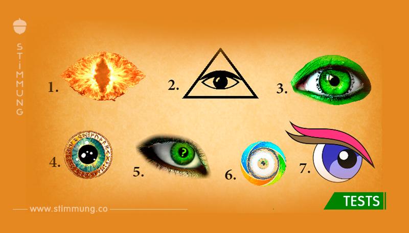 Wähle ein Auge und sieh was dein Unterbewusstsein über dich offenbart