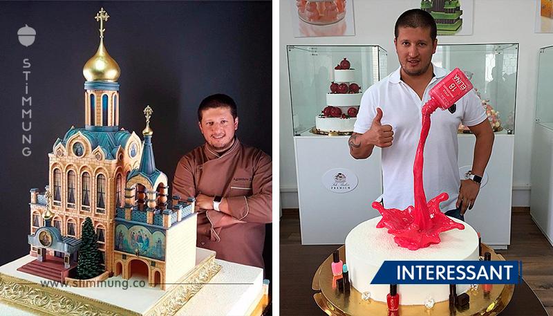 Diese Kuchen darf man nicht essen! Sie sind einfach perfekt, Meisterwerke eines talentvollen Konditors.