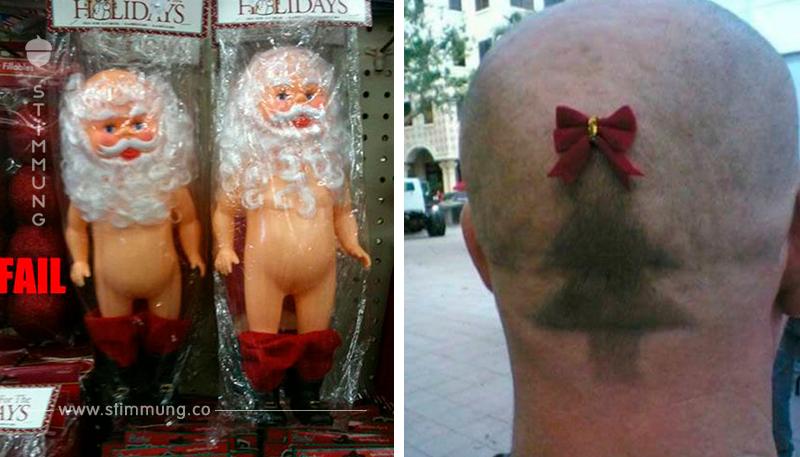 17 lustige Bilder vermiesen die weihnachtliche Stimmung.