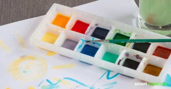 Wasserfarben selbst gemacht – ungiftiger Malspaß für Kinder