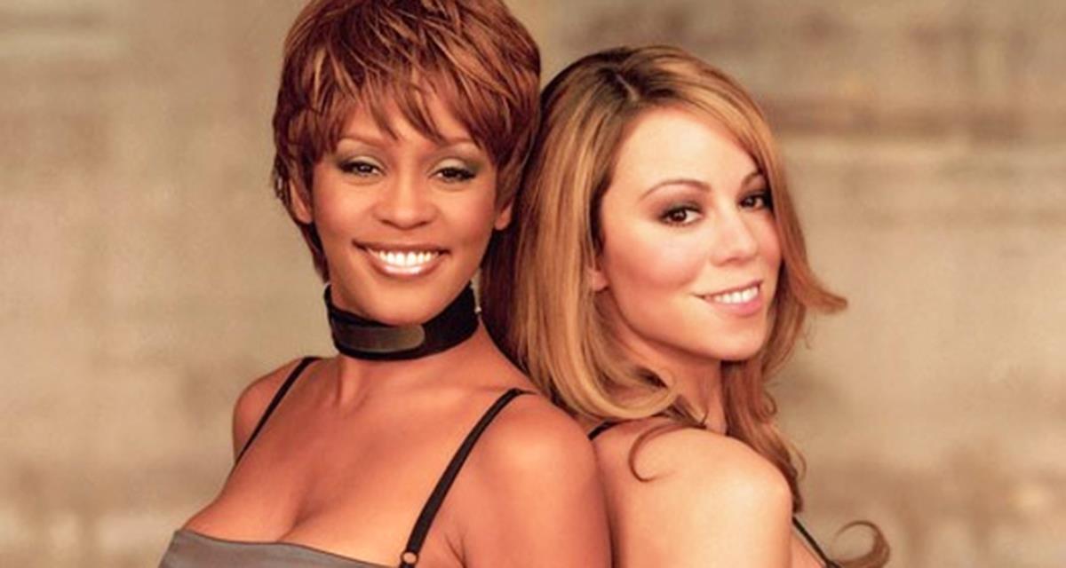 Whitney Houston und Mariah Carey - zwei herrlichen Stimmen auf der gleichen Bühne. Fantastisches Duo!