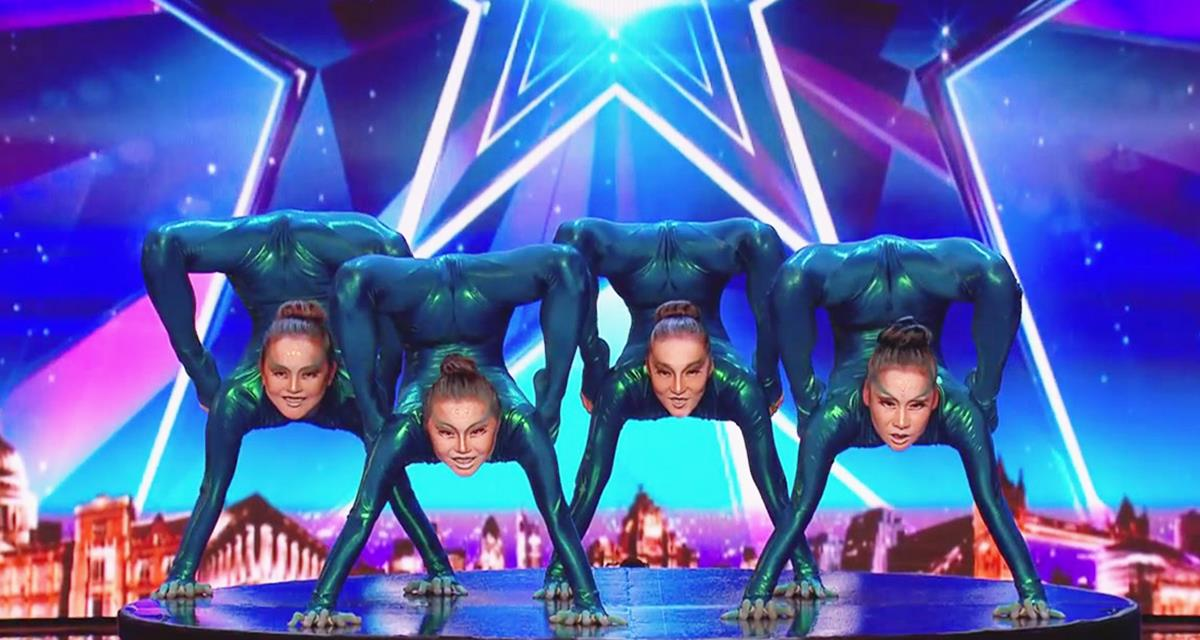 Burjaten Mädchen haben die ganze Halle in der Show  Großbritannien sucht Talente  überrascht
