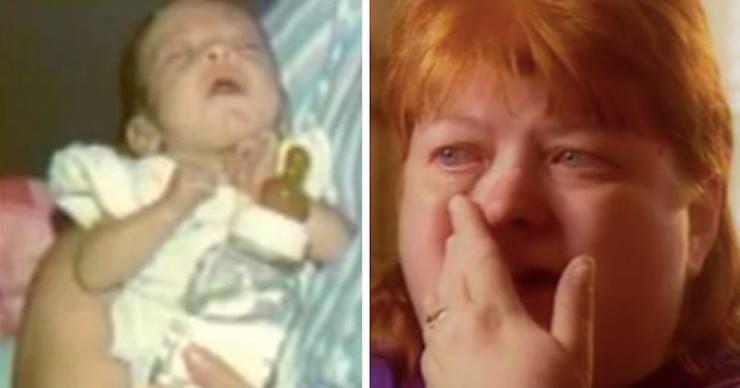 Mutter hört Geräusche über das Babyphone – sie eilt in das Zimmer und sieht, dass das Baby nicht alleine ist