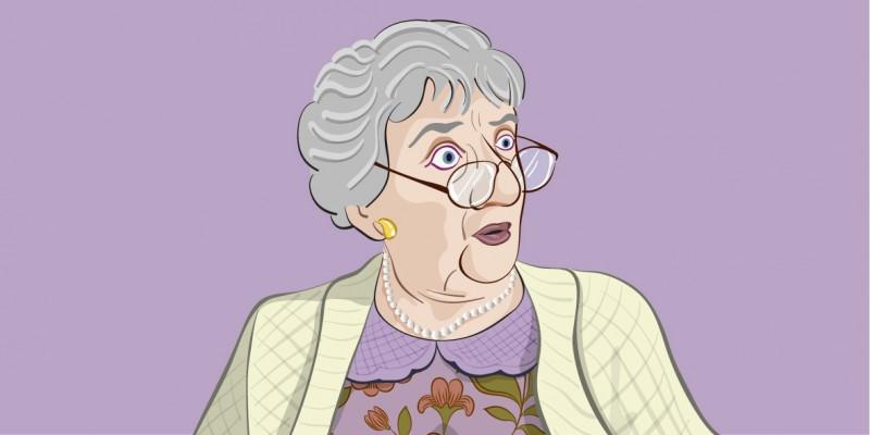 Witz des Tages: Enkelin will ohne BH zum Date.
