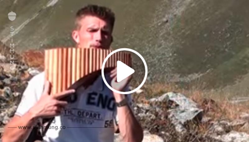 Er spielt den bekannten Song auf der Panflöte – Sekunden später bekommen wir Gänsehaut!