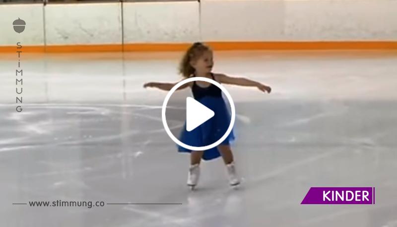 Diese 3-jährige Eisläuferin lässt in nur wenigen Sekunden das Herz des Publikums schmelzen!