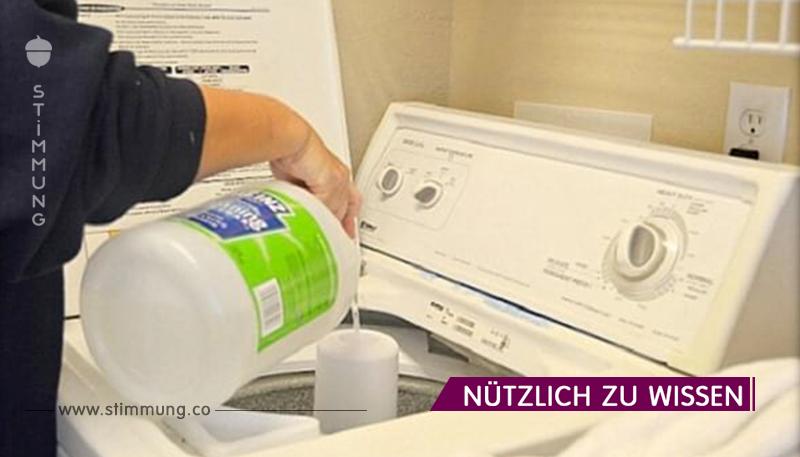 Wenn Sie diese Zutat beim Waschen hinzufügen, werden die Flecken für immer verschwinden!
