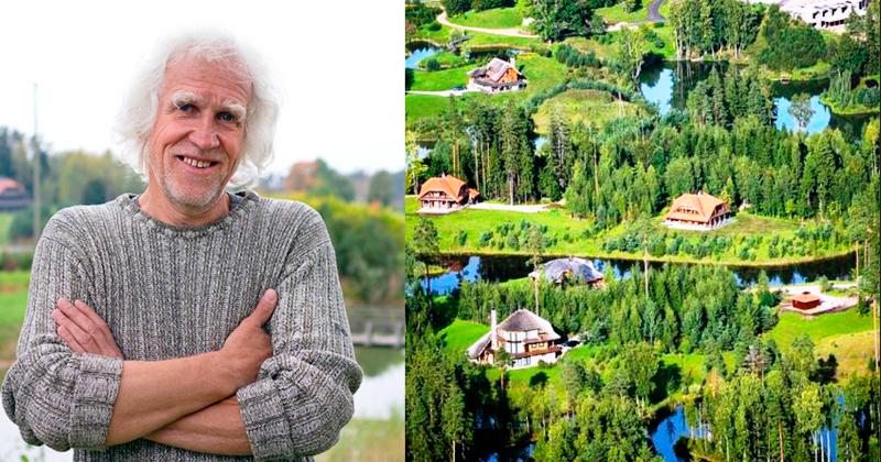 Der lettische Millionär kaufte dreitausend Hektar Wald und baute Stadt der Sonne. Das ist etwas!