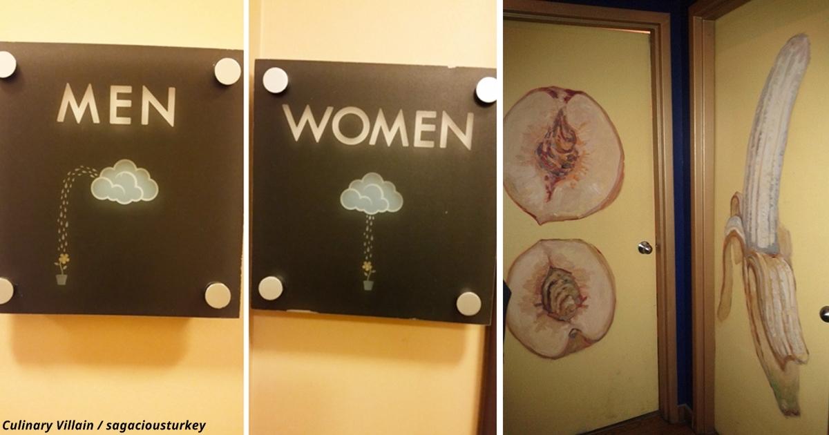 20 mal, wenn man bewiesen hat: Kunst kann sogar eine Toilettentür sein!