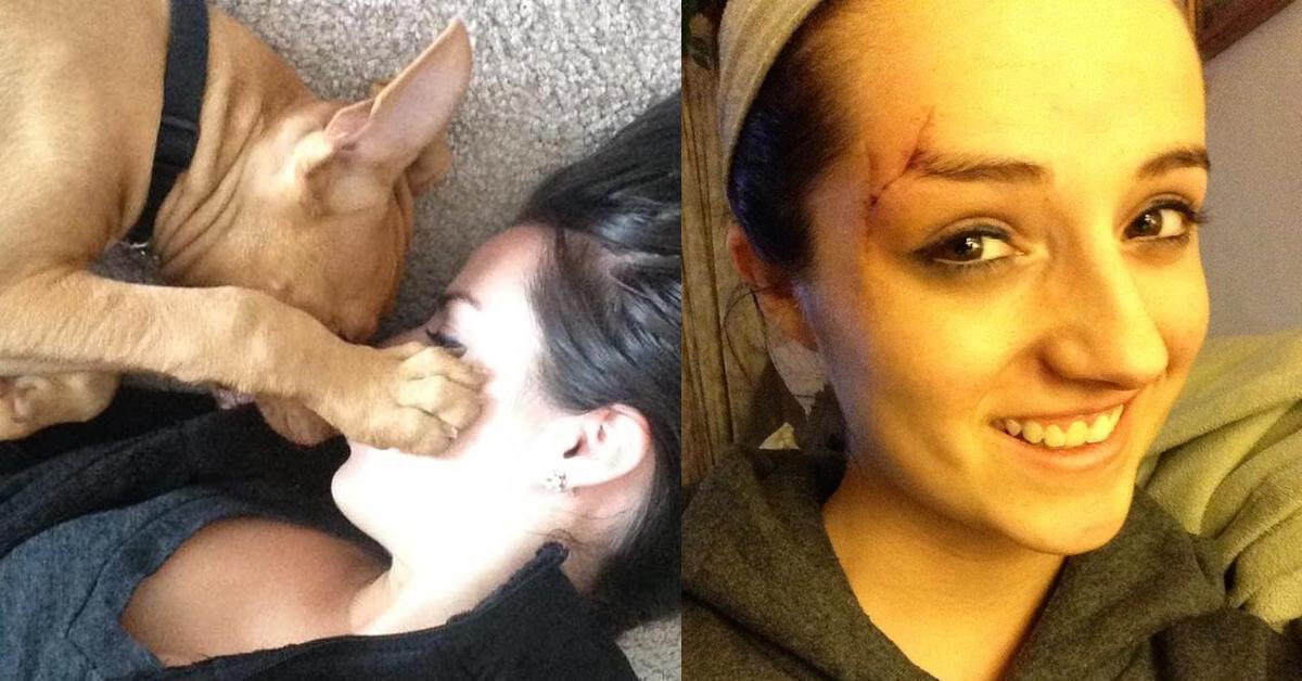 Junge Frau wird von Pitbull Opfer zu Pitbull Liebhaberin.