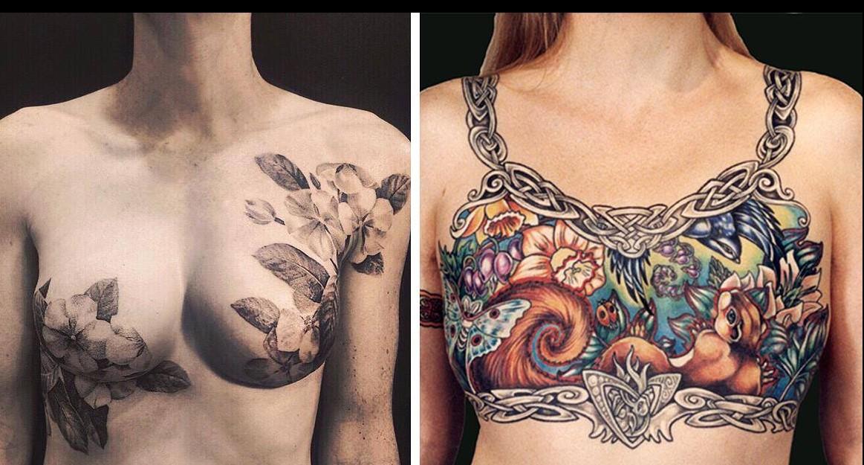Tattoos, die die Narben von der Mastektomie abdecken!