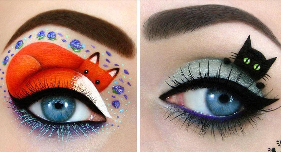 Augenschminke als Leinwand für meine Kunst!