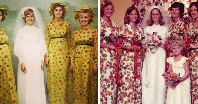 Die Brautjungfern sehen schöner aus, als selbst die Braut!