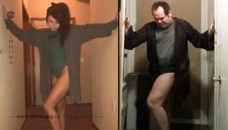 Vater veräppelt Selfies seiner Teenie Tochter.