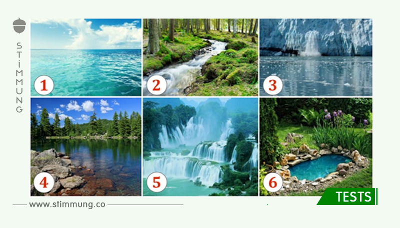 Fantastischer Test: Sie wählen einen Teich auf dem Bild und Sie können herausfinden, was Sie erwartet!