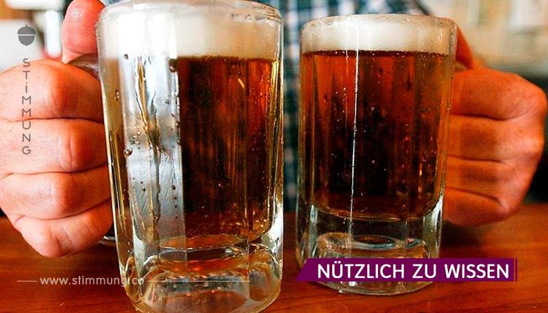 Bier lindert Schmerzen besser als Paracetamol. Genug 2 Gläser!