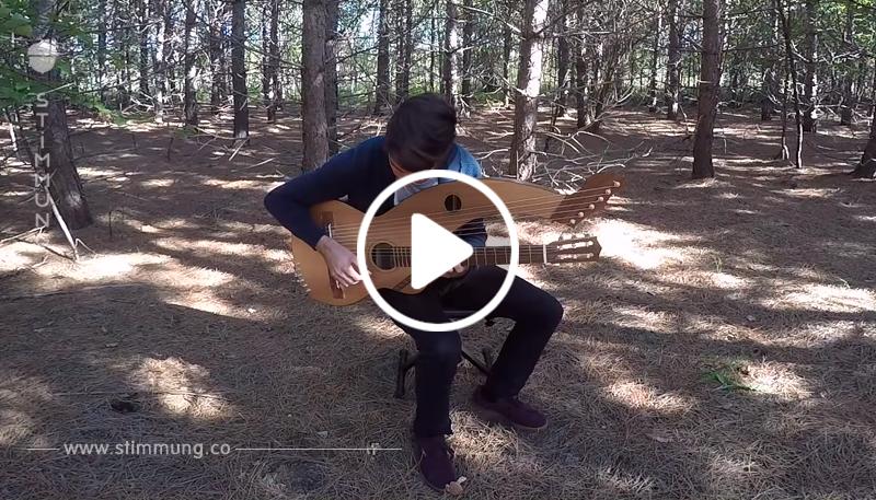 """Mann spielt """"Sound of Silence"""" auf einer 18-saitigen Gitarre – mache dich auf einen magischen Moment gefasst!"""