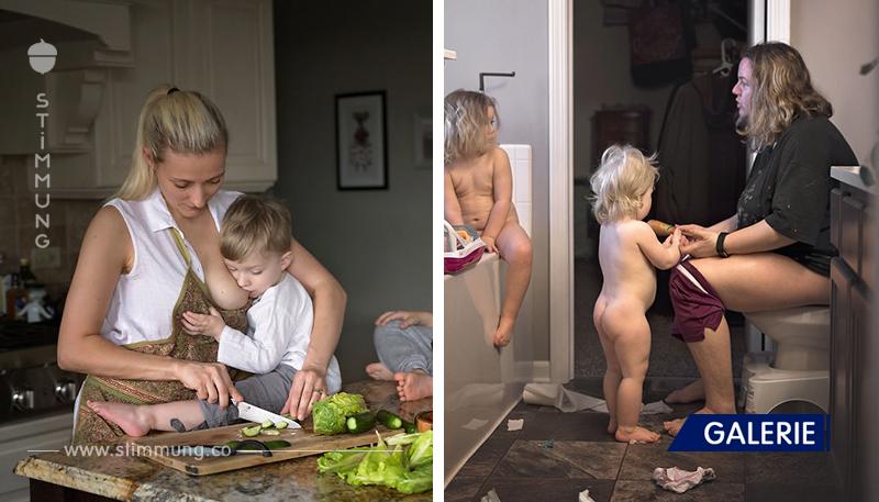 Die Mütter zeigten, wie Mutterschaft wirklich aussieht!