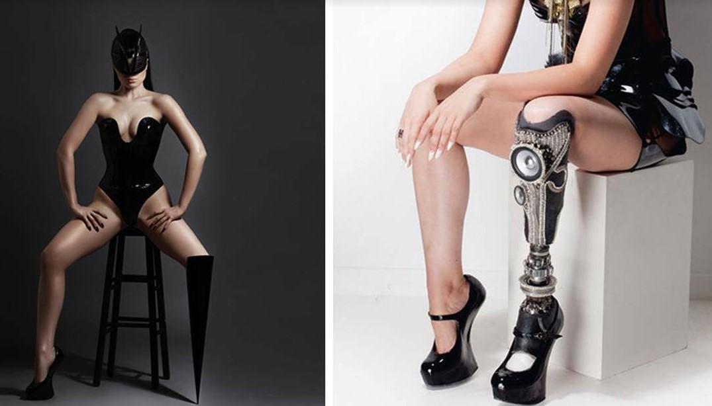 Der weltweit erste behinderte Popstar und Model Viktoria Modesta eroberte die Welt mit ihrem Fuß!
