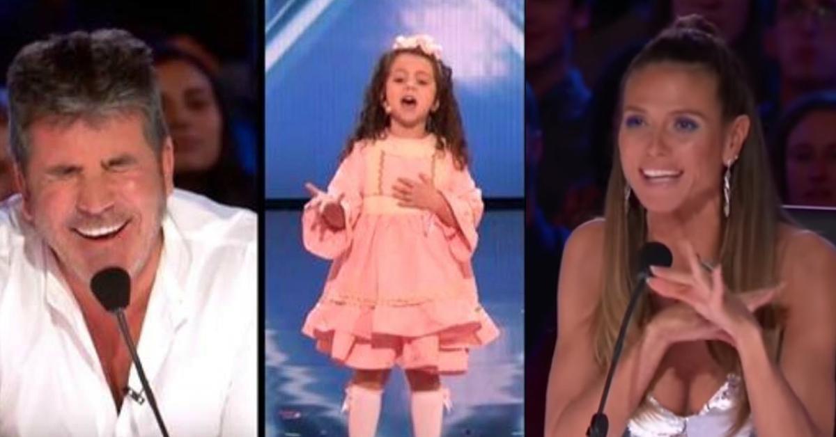 Video: Kleines Mädchen begeistert Publikum mit Oldie Song.