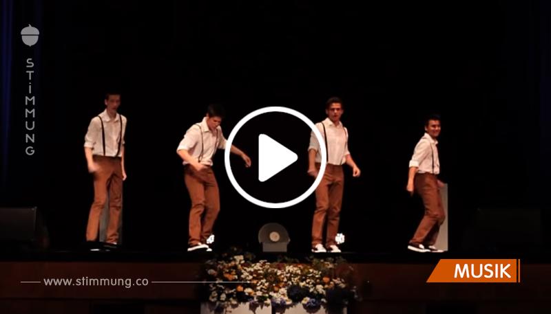 4 Teenager tanzen zu einem Song aus den 60ern – und blühen regelrecht auf, als die Musik sich ändert