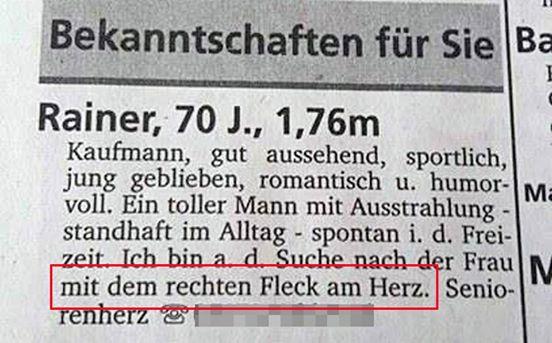 Kontaktanzeigen Zeitung