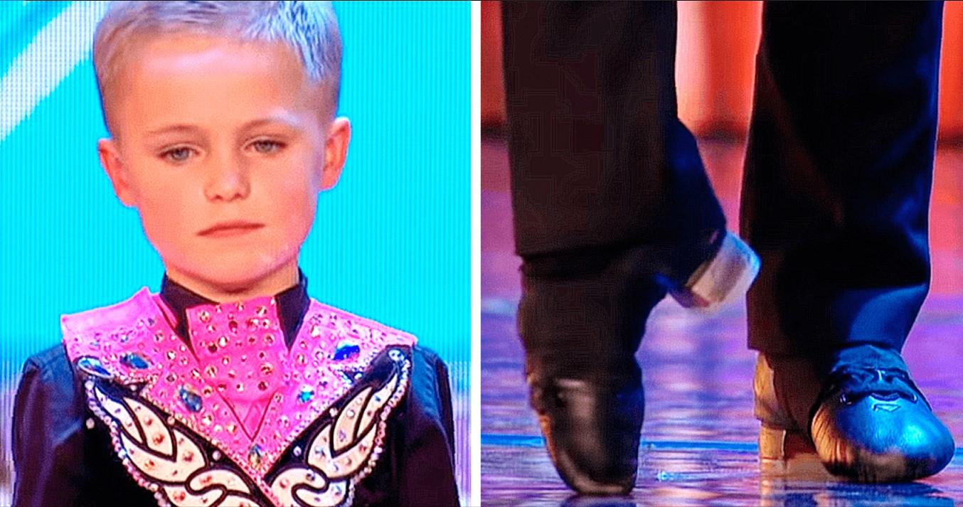 Der 6-Jährige betritt die Bühne und... Eine Minute später applaudierten die Zuschauer ihm stehend!