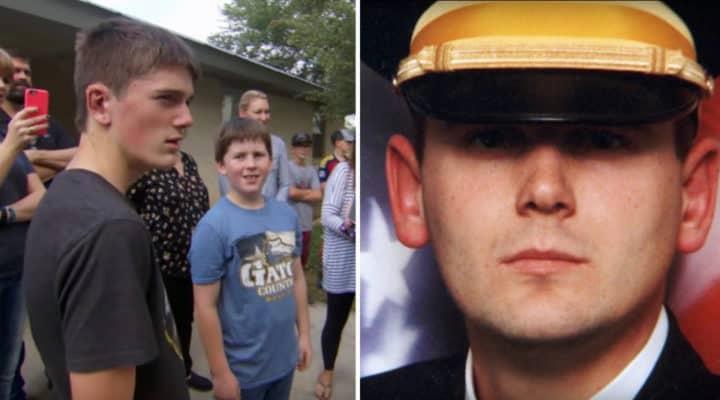 Junge verlor seinen Vater, der Soldat war – 15 Jahre später bittet ein Fremder ihn, aus dem Haus zu kommen