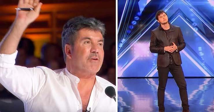 Simon Cowell stoppt den Sänger mitten in seinem Song – seine Herausforderung überraschte dann das Publikum