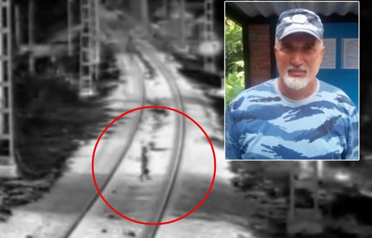 Er sah das Kind auf den Schienen, der Zug näherte sich und es gab keine Zeit zum Nachdenken.