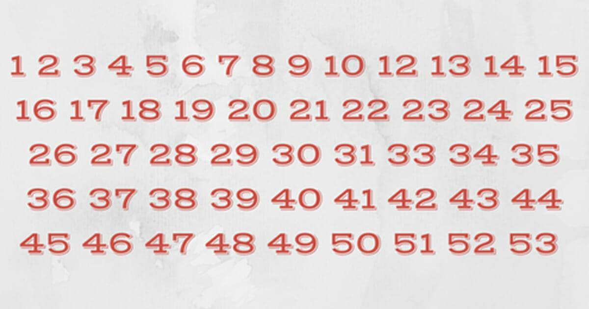 Nummern sehen normal aus, aber etwas stimmt gewaltig nicht: Erkennst du es sofort?