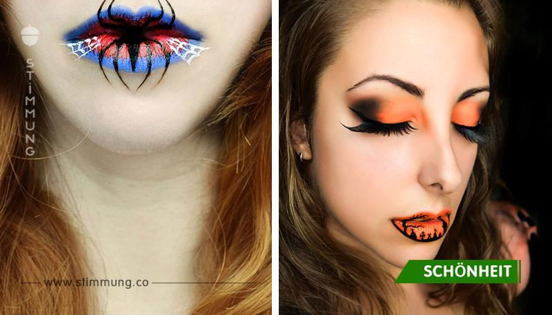 Gruselig schöne Ideen zu Lippen-Make-up an Halloween von Eva Pernas!